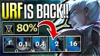 80% CDR NEW URF KAYN!! URF GAMEPLAY! (AR Ultra Rapid Fire Mode) - League of Legends