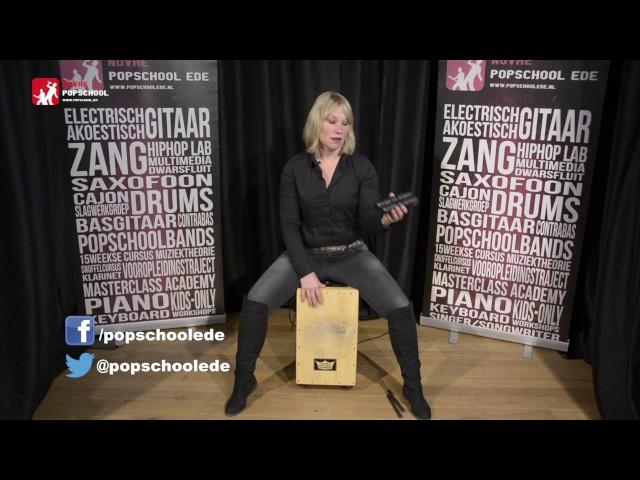 Cajon leren spelen - deel 3.  Volg de cajoncursus met Femke Krone