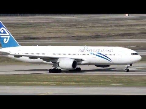Air New Zealand NZ28/29 Inaugural service to Houston KIAH 12-15-2015