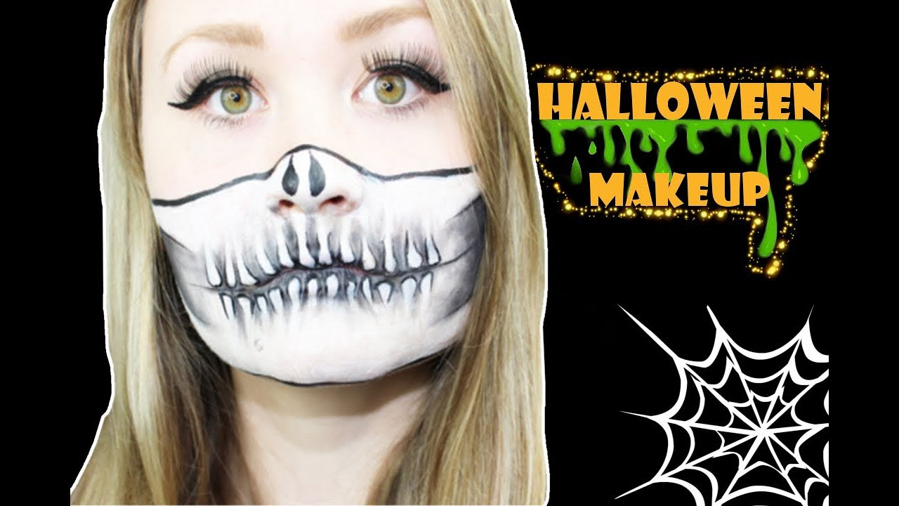 einfaches halloween makeup skelett totenkopf halloween carinamalia youtube. Black Bedroom Furniture Sets. Home Design Ideas