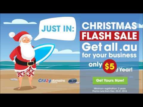 Enjoy your Christmas with $5 Australian Domains