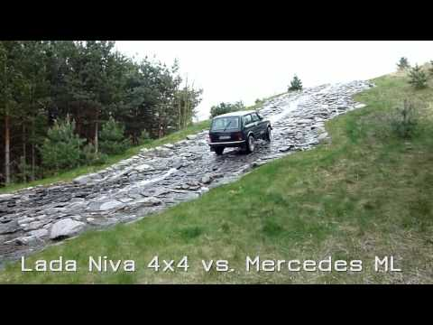 Lada Niva 4x4 Vs Mercedes Ml Am Wasserfall Doovi