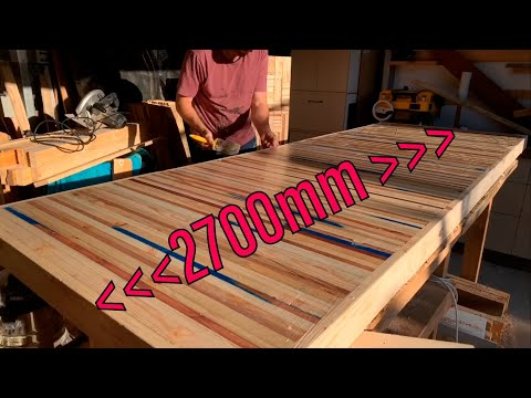 How to build a HUGE Palletwood Dining Table DIY
