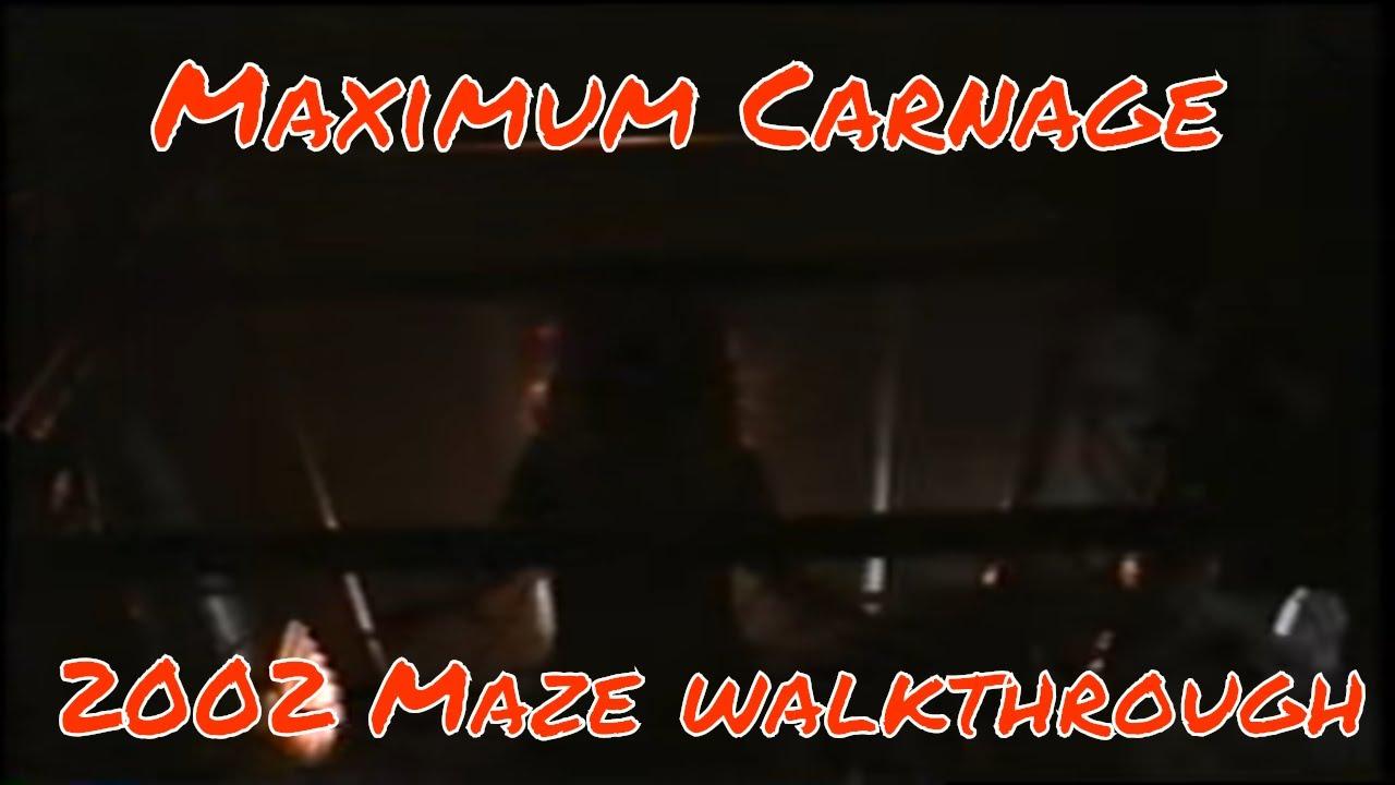 Maximum Carnage maze from Island's of Fear (Adventure) HHN 2002 Halloween  Horror Haunted House