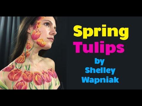 Spring Tulips Design by Shelley Wapniak