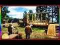 Red Dead Redemption 2 - Father Teaches Sons To Build House