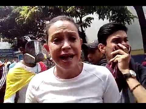"M.C. Machado, marcha TSJ: ""Represión brutal, pero cantamos por libertad. No nos rendimos"""