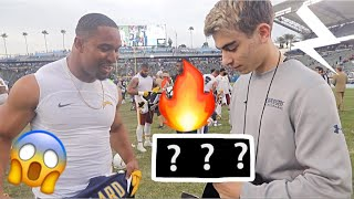 GIVING MY FAVORITE NFL PLAYER HYPE SNEAKERS!!!