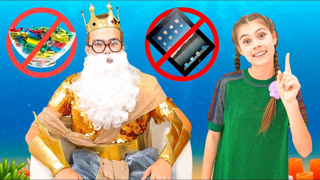 Stacy dan Mia menunjukkan mengapa makan banyak permen dan bermain tablet itu tidak sehat