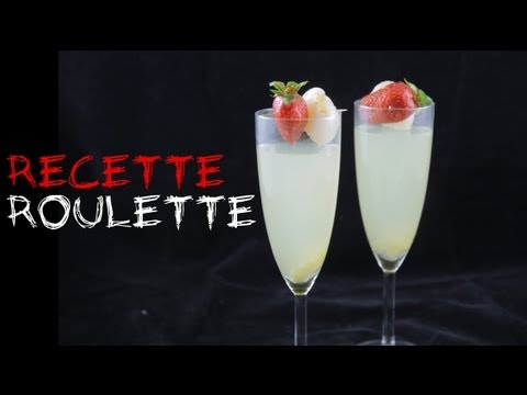recette cocktail champagne gingembre et litchi youtube. Black Bedroom Furniture Sets. Home Design Ideas