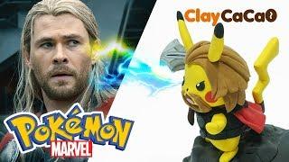 Avengers Endgame Thor Pikachu Figure : MARVEL x Pokemon Thor Pikachu - Clay art No.0019