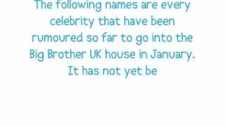 Celebrity Big Brother 7 | Celebrity Master List