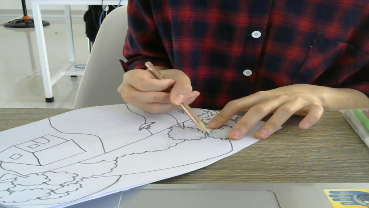 Hướng dẫn vẽ một bức tranh làng quê bằng bút chì