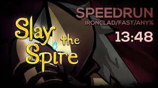 SLAY THE SPIRE - Speedrun Ironclad Any% Fast (13:48)