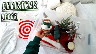 target christmas decor + decorating my room for christmas! vlogmas day 6