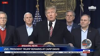 🔴WATCH: President DONALD TRUMP News Conference at Camp David 1/6/18