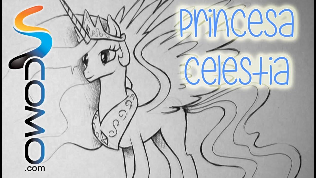 Dibujar a la Princesa Celestia de My Little Pony  YouTube