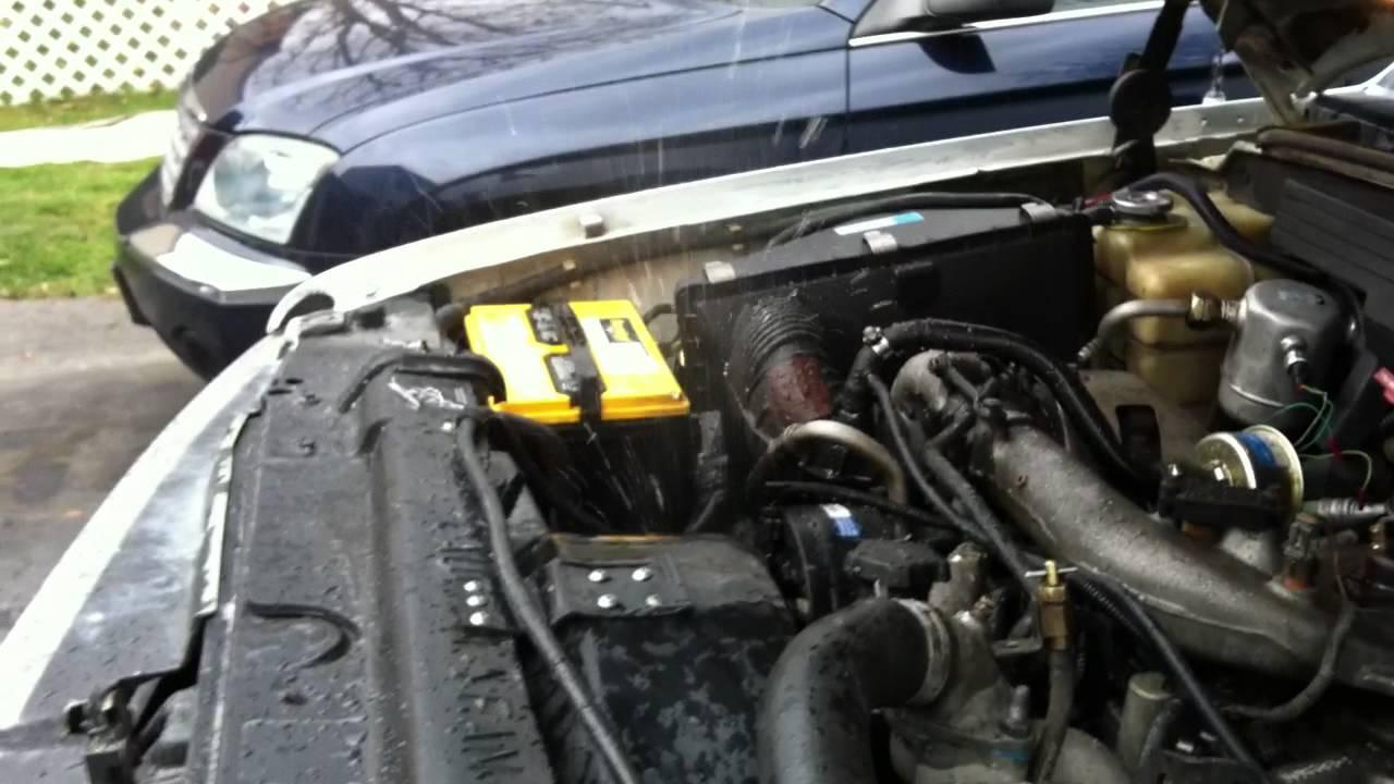 1994 Chevy Diesel >> 1994 Chevy Silverado K1500 6.5L Turbo Diesel Cooling System Flush - Part 3 - YouTube