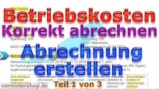 Nebenkostenabrechnung als Vermieter korrekt erstellen - Streit vermeiden... 2019 - Vermietershop.de