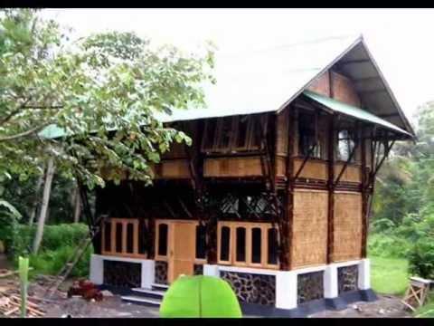 Desain Rumah Bambu Lantai 2