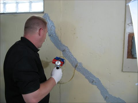 epoxy foundation crack repair kit how to instructions youtube