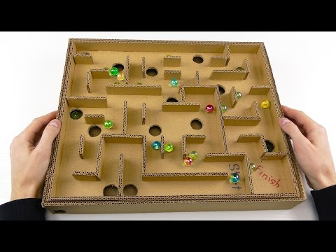 Thumbnail: Board Game Marble Labyrinth from Cardboard | How to Make Amazing Game