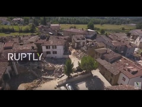 LIVE: Drone shows live aerial view of devastation in Amatrice
