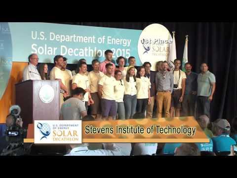 Stevens Institute of Technology: 2015 Solar Decathlon Awards Ceremonies Supercut