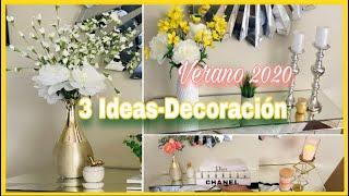 Decoración IDEAS con floreros/entrada o recibidor en verano🌿💐2020/Summer entryway decoration ideas