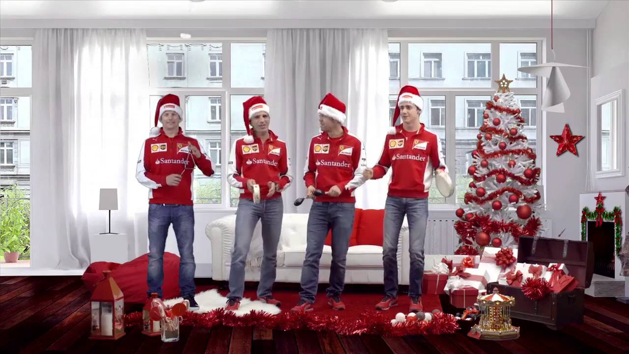 Merry christmas from scuderia ferrari their drivers for Ferrari christmas