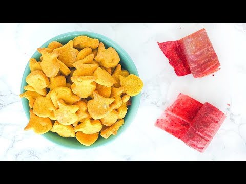 HEALTHY GOLDFISH AND FRUIT ROLL UPS! Homemade Snack Ideas!