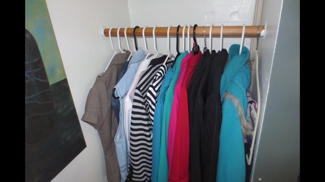 Organiza tu armario como hacer espacio en tu closet youtube - Como revestir un armario ...