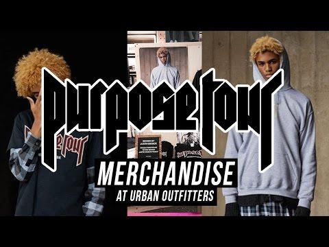 BIEBER PURPOSE TOUR MERCH FIRST LOOK! | Urban Outfitters