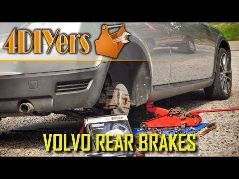 How to Replace the Rear Brakes on a Volvo C30 S40 V50 C70