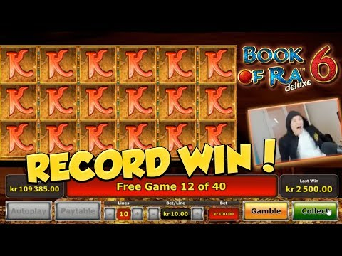 RECORD WIN?! Book of ra 6 BIG WIN - HUGE WIN - Freespins - Retriggers