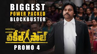 Vakeel Saab Promo 4 - Biggest Power Packed Blockbuster - Pawan Kalyan | Sriram Venu | Thaman S Image