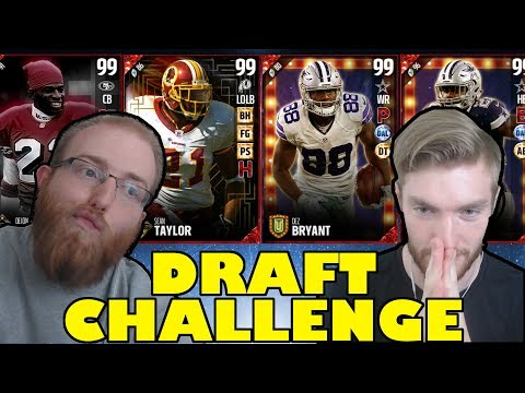 CREATING BEST TEAM POSSIBLE IN MUT! DRAFT CHALLENGE WAGER VERSUS TT23! Madden 17 Ultimate Team