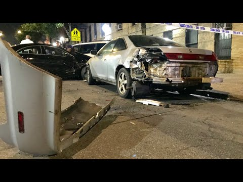 ( READ FULL DESCRIPTION ) - 3 CAR MVA ON GRAND AVENUE IN THE FORDHAM HEIGHTS AREA OF THE BRONX, NYC.