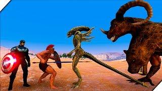 300 СПАРТАНЦЕВ против МОНСТРОВ - Игра Ultimate Epic Battle Simulator