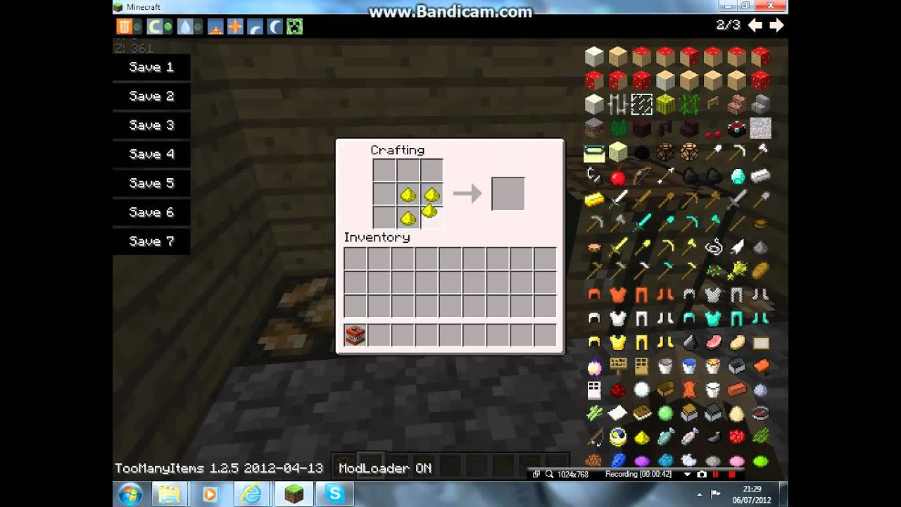 Minecraft How To Make TnTglowstone And A Nether Portal