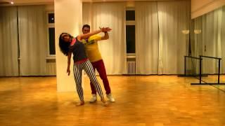 Zouk dance lessons. Intermediate. 22.02.15. Head movements: titanic, boneca, bumerangue and prison