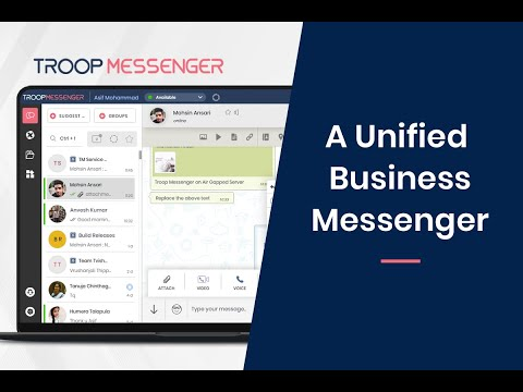 Troop Messenger - A Unified Business Messenger for Team Collaboration