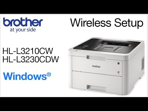 Connect HLL3230CDW to a wireless computer - Windows - YouTube
