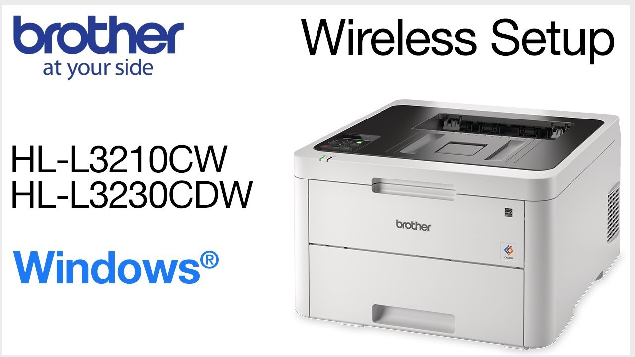 Connect HLL3230CDW to a wireless computer - Windows