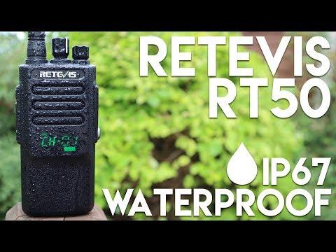 Retevis RT50 - LED Display IP67 Waterproof DMR Radio!