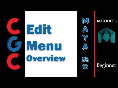 Autodesk Maya Tutorial- Edit menu Overview - Session 12 thumbnail