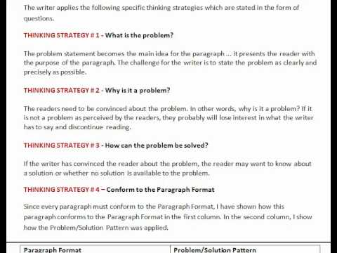 Writing Tutor: Problem-Solution