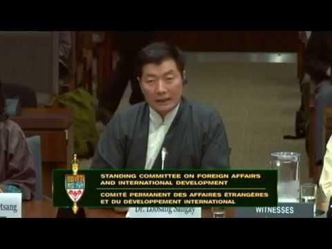 Sikyong Lobsang Sangay and Tibetan Parliamentary delegations testify.