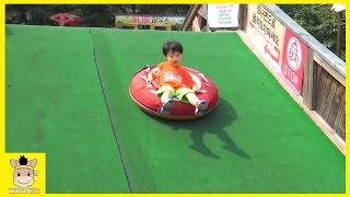 Indoor Playground Fun Green Color Slide for Kids and Family Water Cafe | MariAndKids Toys