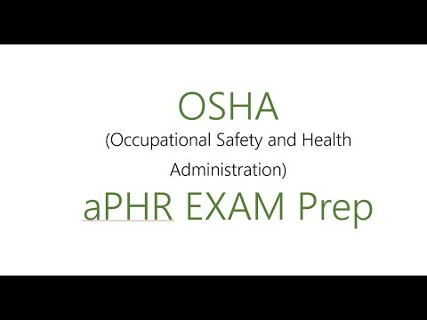 Everything you need to know about OSHA! {+free aphr practice questions & a free practice test!}